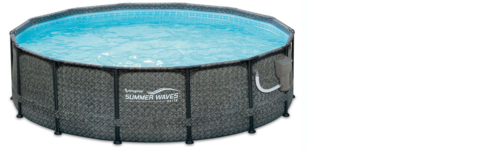 Amazon.com: Summer Waves piscina de marco sobre el suelo de ...