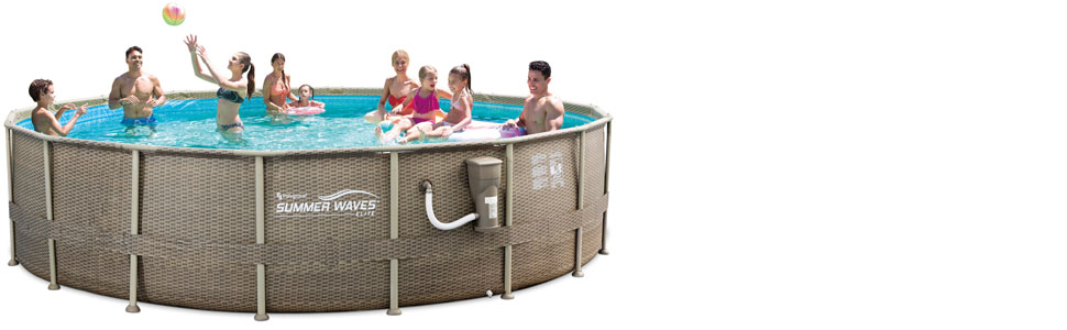 Amazon.com: Summer Waves Elite Wicker Print juego de piscina ...