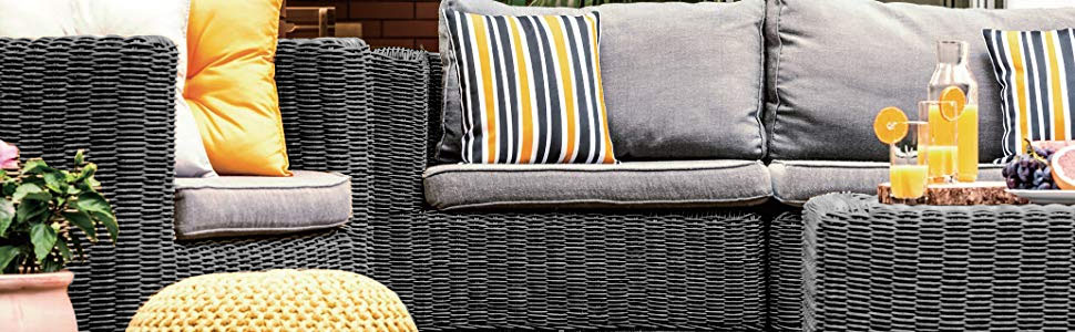 dark herringbone wicker backyard patio furniture decor