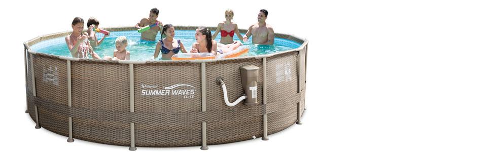 P4N01648B summer waves backyard swimming pool 8 person family friend swimming pool