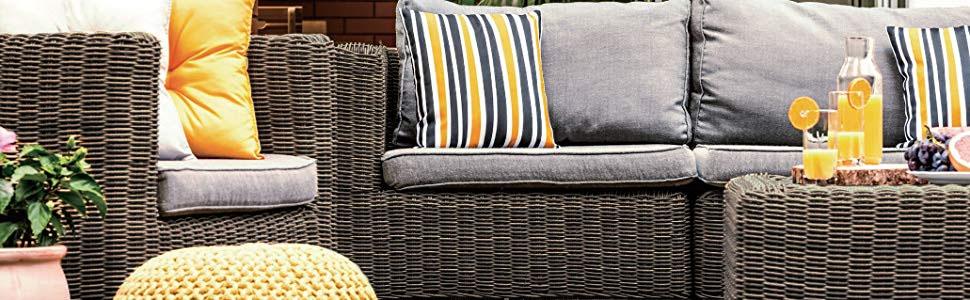 triple basket weave wicker backyard patio decor