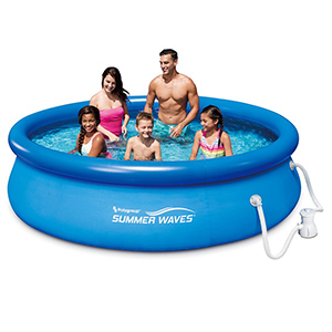 Amazon Com Summer Waves 10ft X 30in Quick Set Inflatable Above Ground Pool With Filter Pump Garden Outdoor