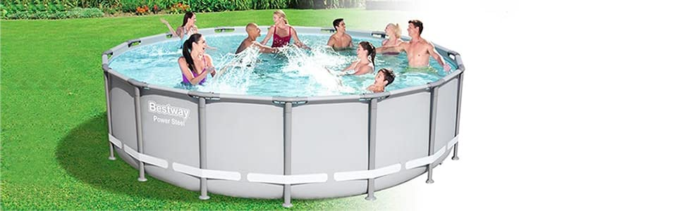 Amazon Com Bestway 12753 Steel Pro Frame Pool 18 Feet
