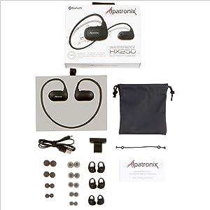 Swimming earphones bluetooth - black technology bluetooth earphones