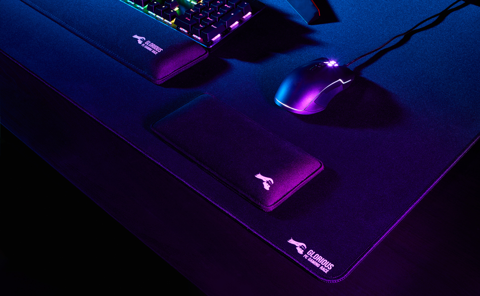Black Cloth | Wide Large Glorious XXL Extended Gaming Mouse Mat Pad XLarge