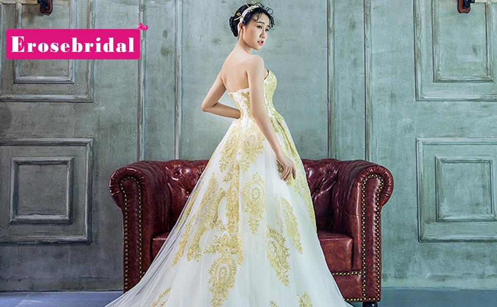 Erosebridal Lace Appliques Wedding Dress Bridal Gowns Mermaid Dress ...