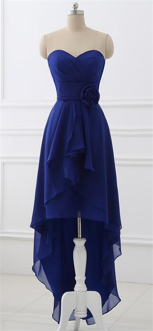 Hi Lo Bridesmaid Dresses for Wedding Girls Prom Dresses Gowns