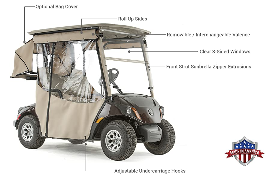 Number Sunbrella Golf Cart Cover on