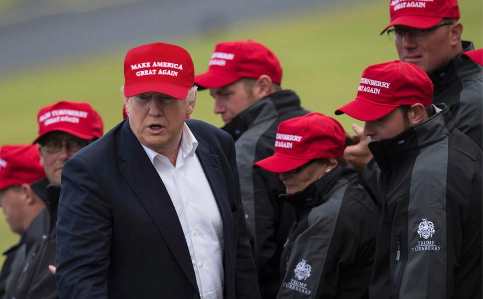 35cfd8d0a26c2 Amazon.com  CHUNG Adult Adjustable Trump Hat Cotton Cap Make America ...