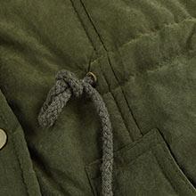 4How Women Parka Jacket with Adjustable Waist Drawstring