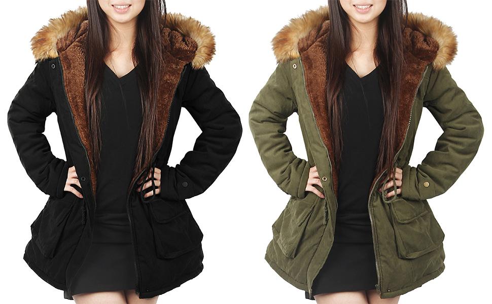 4How Women parka jacekt winter coat