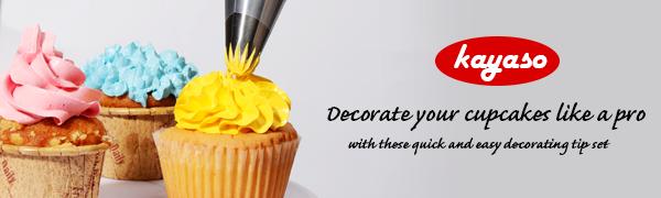 big icing tips, piping tips set, tip decorating kit, large cupcake icing tips, pipping nozzle