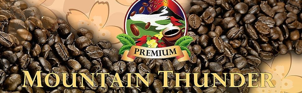 Mountain Thunder Coffee banner logo