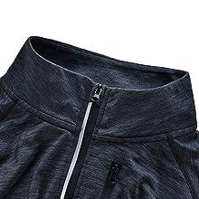 Reflective quarter zipper