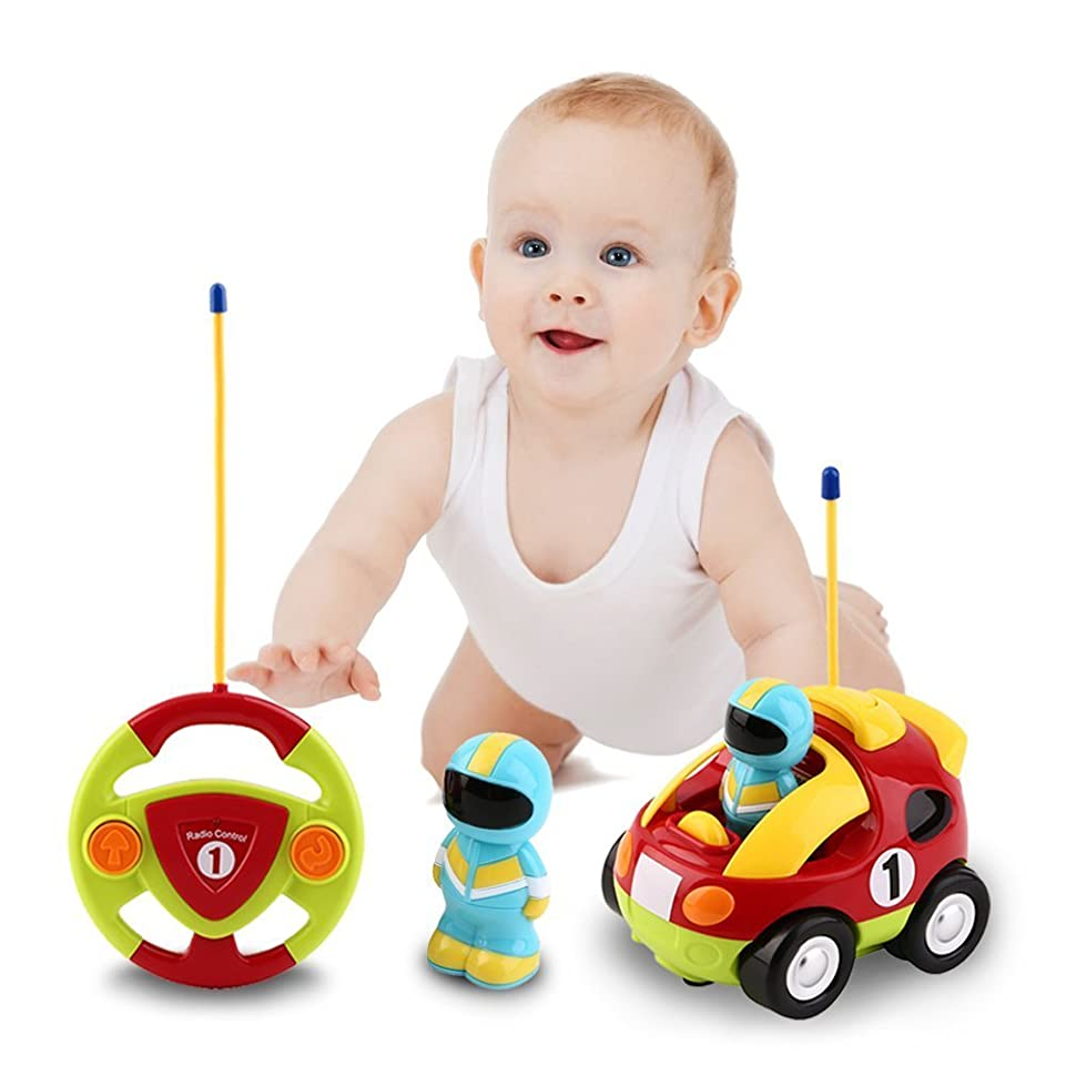Toys For Toddlers : Amazon cartoon r c race car radio control toy for