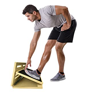 Amazon Com Professional Wooden Slant Board Adjustable Incline Calf Stretch Slantboard 17 Quot X