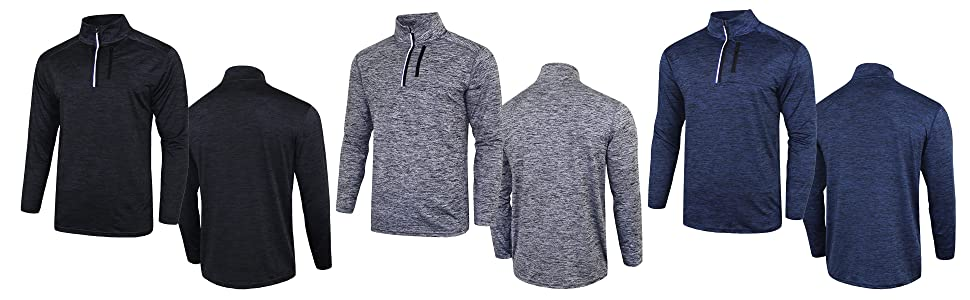 3 pack long sleeve pullover shirts