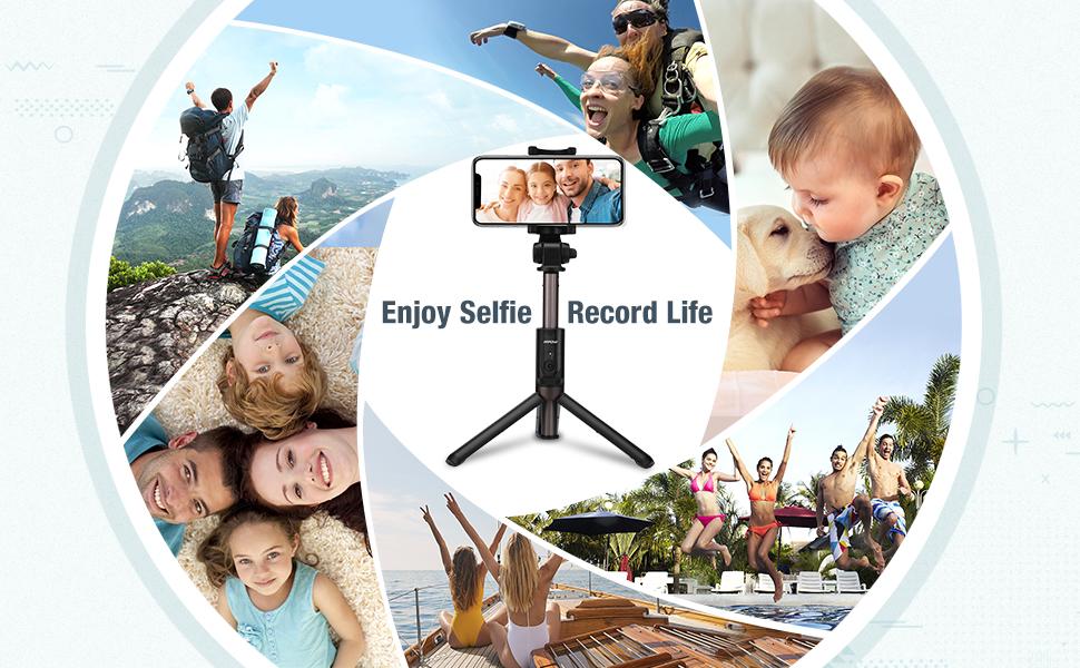 selfie stick for iphoneX 8 7 plus 6 6s se android Huawei Moto EDGE Samsung
