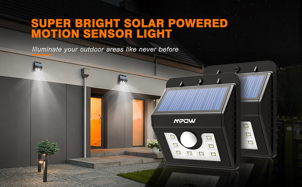 mpow motion sensor light brings brightness to areas that have inadequate such as attics decks garages or porches