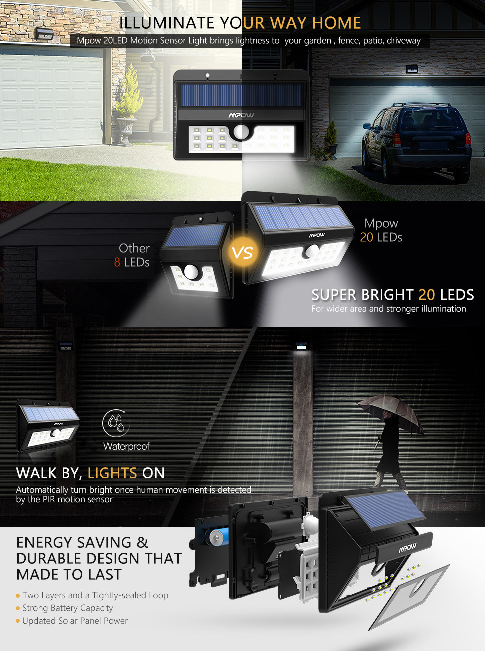 mpow brighten your way home brighter lights last longer