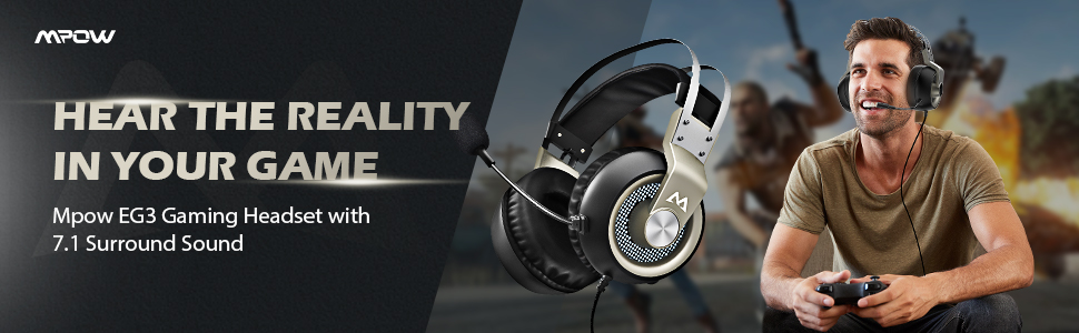 Headsets - Gaming Headset, 7 1 Surround Sound Gaming
