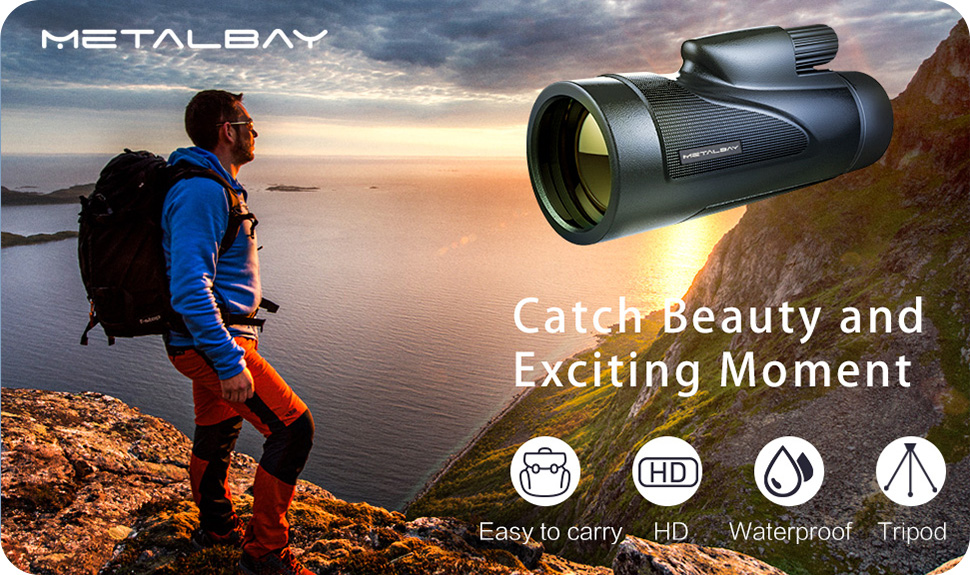 Metalbay high power monocular telescope waterproof monocular