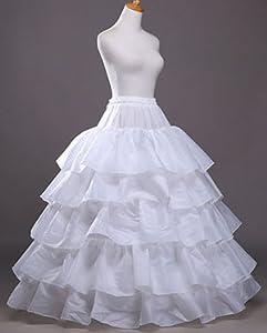 Vintage Inspired Lingerie V.C.Formark 5 Slip Ruffles 4 Hoops Petticoat Underskirt for Bridal Wedding Gown Evening Dress $23.89 AT vintagedancer.com