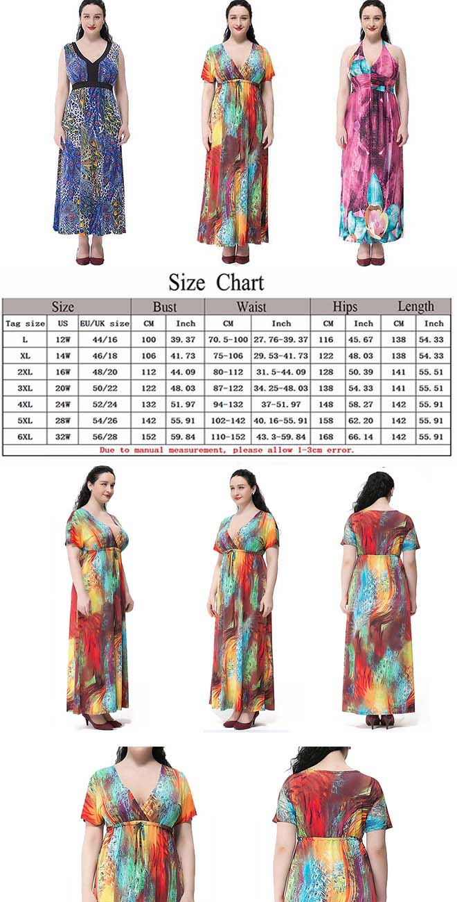 Offer Size: L-6XL (12W-32W) fit for Women Plus Size ...