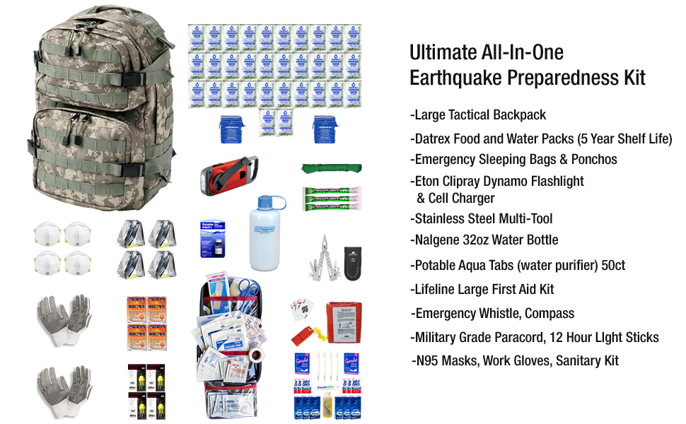 Earthquake Kit for Four People