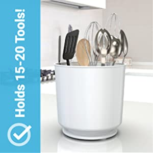 extra large white utensil holder