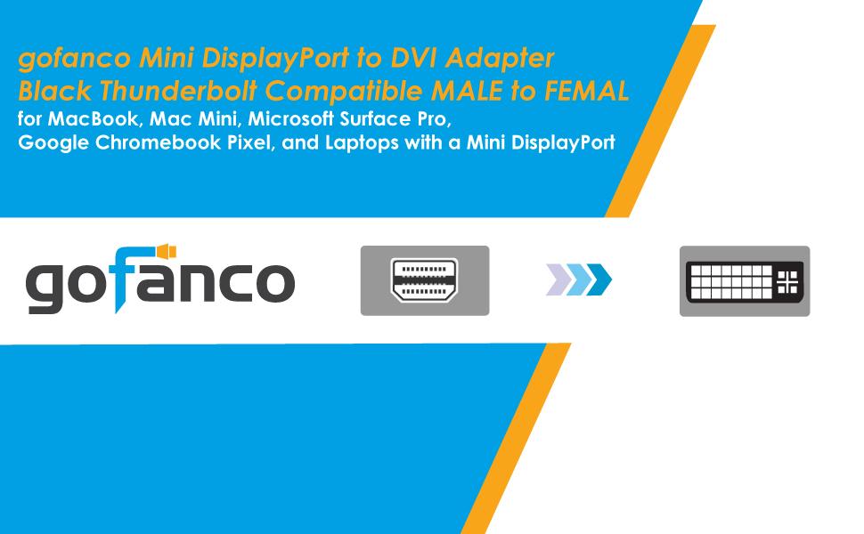 Amazon Com Gofanco Mini Displayport To Dvi Adapter