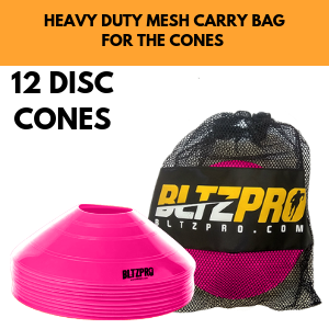 12 DISC DOME SOCCER CONES FOR AGILITY CONDITIONING AND TRAINING FOOTWORK