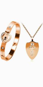 shield necklace,key necklace,lock bracelet