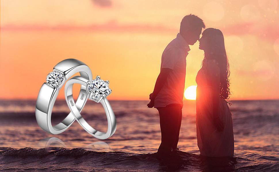 couple ring,wedding ring set,engagement ring set,women ring set,mens ring,women ring,promise ring