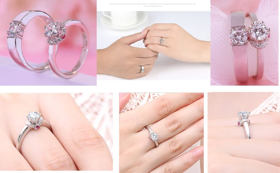 matching promise rings, matching rings for couples, matching ring for couples,matching wedding rings