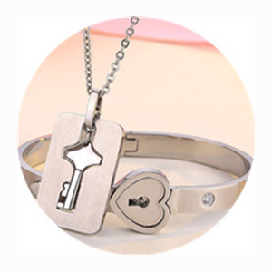 key necklace,lock bracelet, you hold the key to my heart
