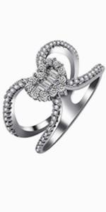x ring,heart ring,anniversary ring