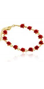 Rose flower bracelet for girls