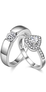 engagement rings novelty, engagement rings sets for couples, engagement rings couples set,