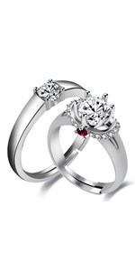 engagement rings with band for women, engagement rings couples, engagement rings his and hers sets,
