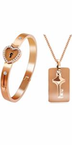 lock bracelet,key necklace,you have the key to my heart,women bracelet,men necklace