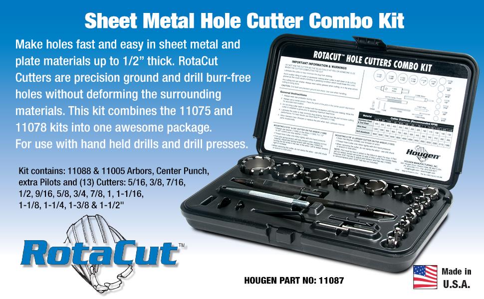 Fractional NEW HOUGEN HOU-11075 RotaCut™ Hole Cutter Kit