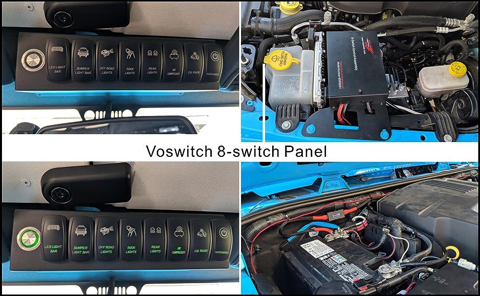 Amazon Com Voswitch Jeep Wrangler 2007 2018 Jk Amp Jku