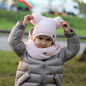 kids hat toddler scarf and hat set winter hat girls hat scarf set pom pom hat knit beanie baby
