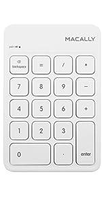 Macally 18 Keys Bluetooth Wireless Numeric Keypad