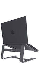 """Aluminum Eye-Level Laptop Stand for Home & Office Desks   Fits All Notebooks 10"""" 17.3 Apple Macbook"""