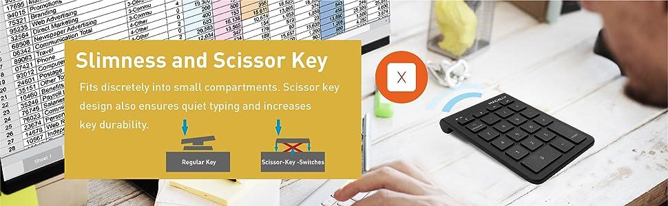 Slimness and Scissor Key