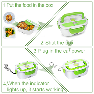 Flavor In Portable Microwave Stove Oven Lunch Box For Pre-cooked Meals 12v Car Truck Plug Fragrant