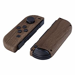 Soft Touch Wood Grain Joycon Controller Housing Shell + Buttons for Nintendo Switch Joy-Con 2