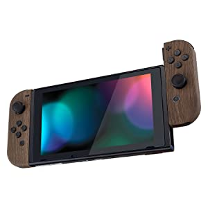 Soft Touch Wood Grain Joycon Controller Housing Shell + Buttons for Nintendo Switch Joy-Con 3